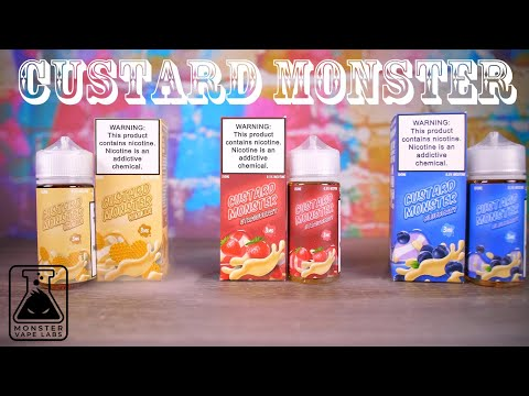NEW Custard Monster from Monster Vape Labs! 3 Flavor Review! VapingwithTwisted420